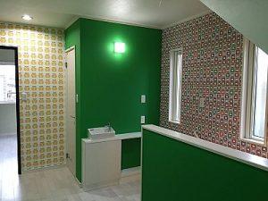 2階ホール/手洗いカウンター